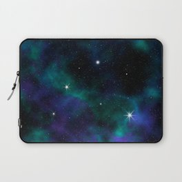 Blue Green Galaxy Laptop Sleeve