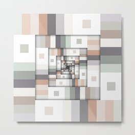 Colorful Geometric Layers Metal Print