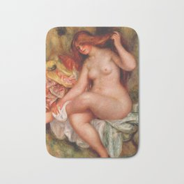 Auguste Renoir - A Seating Bather Bath Mat