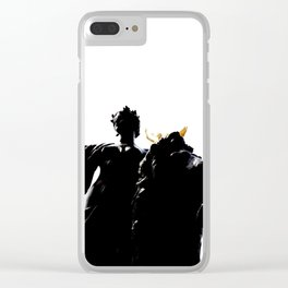 Black and White Queen Victoria Memorial Clear iPhone Case