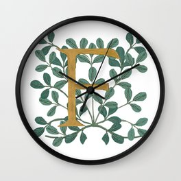 Forest Letter F Lite 2020 Wall Clock