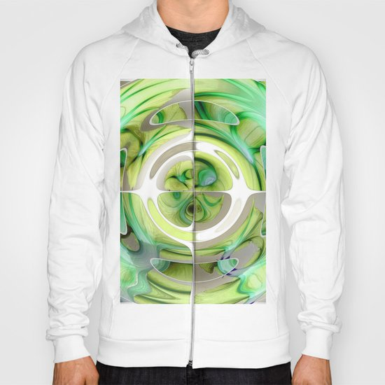 Lime and Green Abstract Collage Hoody