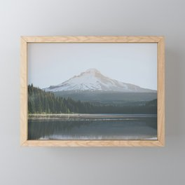 Trillium Lake Sunrise - Nature Photography Framed Mini Art Print