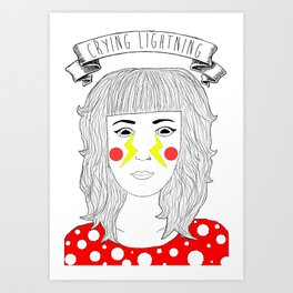 Crying Lightning by Arctic Monkeys inspired Art Print