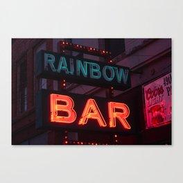 Rainbow Bar - Sheridan, WY Canvas Print