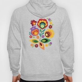 Polish Folk Art Print Red Hoody