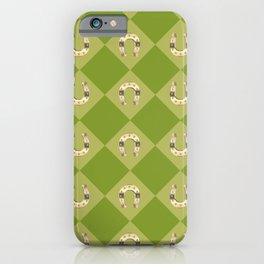 Gold horseshoe iPhone Case