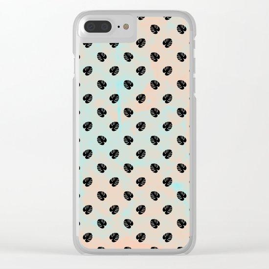 Mini Monstera Theme Clear iPhone Case