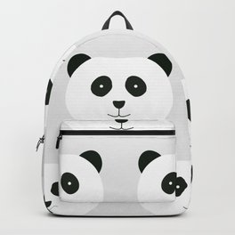 Panda Love Gray Backpack