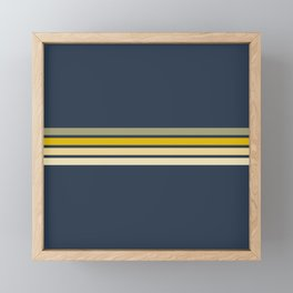 Racing Retro Stripes Framed Mini Art Print