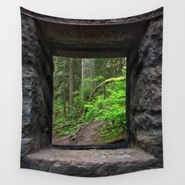 Stone House Window Wall Tapestry