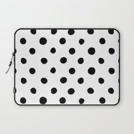 Modern Handpainted Abstract Polka Dot Pattern Laptop Sleeve