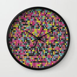 Heathered knit textile 1 Wall Clock