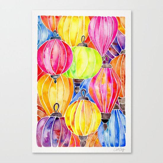 Vietnamese Rainbow Lanterns Canvas Print
