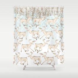 White reindeer  Shower Curtain