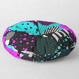Circles, Bubbles And Stripes Floor Pillow