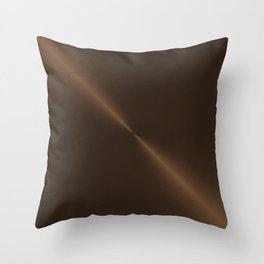 Dark Brown Bronze Metal Throw Pillow