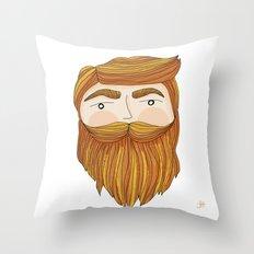 Gorgeous Ginger Beard Throw Pillow
