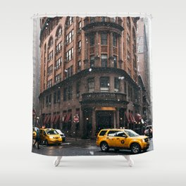 Snow showers in Financial District Shower Curtain