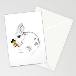 Some'bunny' Loves You (Single Bunny/White) Stationery Cards