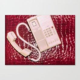 Phone on Crocodile Skin Canvas Print