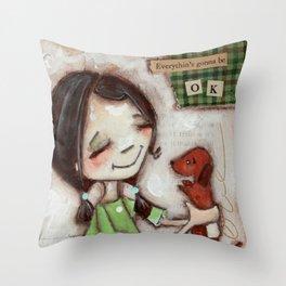 OK - by Diane Duda Throw Pillow