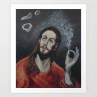 Holy Smoke (after El Greco) Art Print