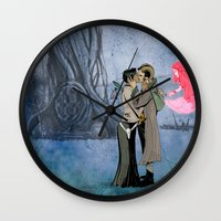 saga Wall Clocks featuring Saga by Rob O'Connor