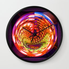 Framed glass spiral Wall Clock