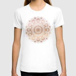 Copper tones ornate mandala T-shirt