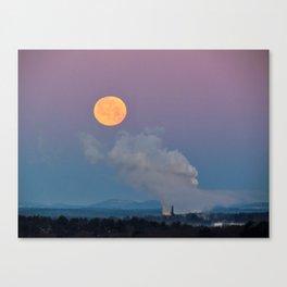 Full Moon Setting at Dawn (1) Canvas Print