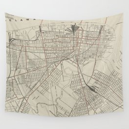 Vintage Map of Camden NJ (1921) Wall Tapestry