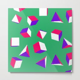 Cubes and Pyramids Metal Print