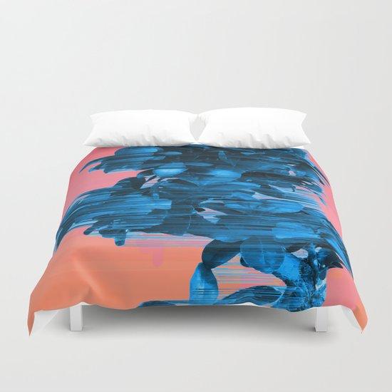 Velocious Blue Little Tree Duvet Cover