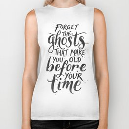 Forget the Ghosts - White Biker Tank