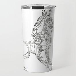 Wendigo Crouching Doodle Art Travel Mug