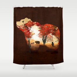 Bears in the Woods Shower Curtain