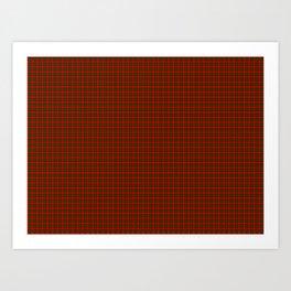 Dunbar Tartan Art Print