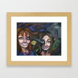 Mom and Me Framed Art Print