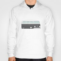 vw bus Hoodies featuring Low VW Bus by leducland