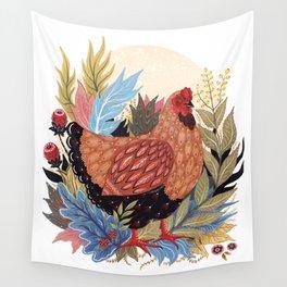 Spring Chicken Wall Tapestry