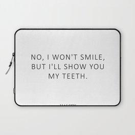 Nightmare - Feminism Quote - Smile Laptop Sleeve