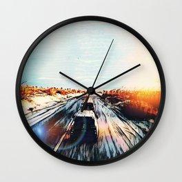 Evaporating Saguaro Sunset Wall Clock