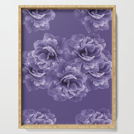 Ultra Violet Peony Flower Bouquet #1 #floral #decor #art #society6 Serving Tray
