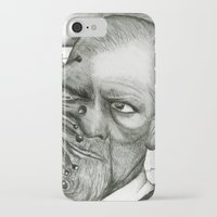 freud iPhone & iPod Cases featuring Freud by CasiRodriguez