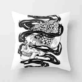 Magic Skull of Life Throw Pillow