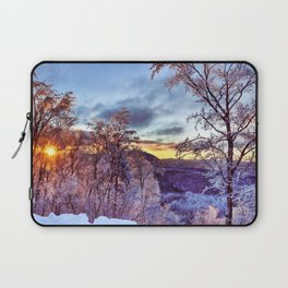 Icy Forest Awakens Laptop Sleeve