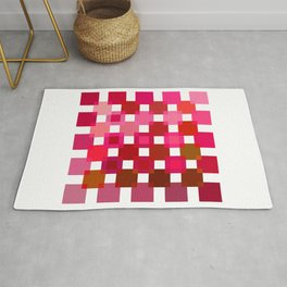 50 / 114 Squares of RED - Living Hell Rug
