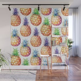 Fat Pineapples Pattern Wall Mural