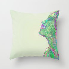 Laughing With Throw Pillow